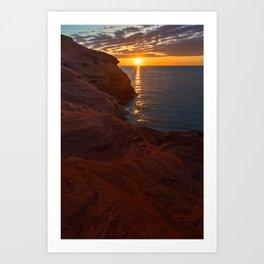 Seacow Head Sunset Art Print