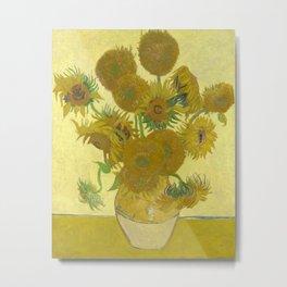 Sunflowers (Vincent Van Gogh series) Metal Print