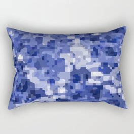 Modern terrazzo style blue camouflage pattern Rectangular Pillow