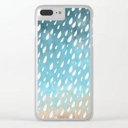 Falling Rain Clear iPhone Case