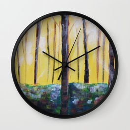 Good Luck Series: Sunny Forest Abstract Wall Clock