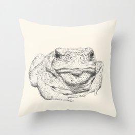 Toad Face Throw Pillow