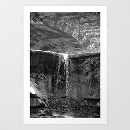 Waterfall Archway Art Print