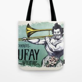 Marguerite Dufay playing the trombone Tote Bag