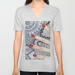 Hand of Aleia  Unisex V-Neck
