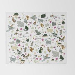 Animal Chart Throw Blanket