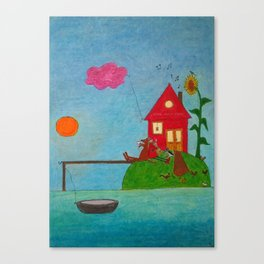sunflower island Canvas Print