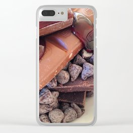 Chocolate goals Clear iPhone Case