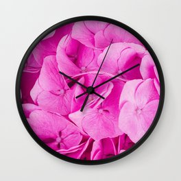 A Bunch of Pretty Pink Flowers Wall Clock
