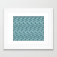 damask Framed Art Prints featuring Damask by Xiao Twins