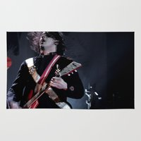 jack white Area & Throw Rugs featuring Jack White Airline Satan by Christopher Chouinard