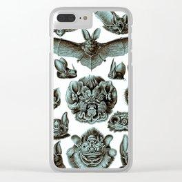 Ernst Haeckel Bats Moonlight Clear iPhone Case