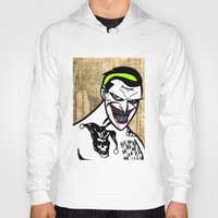 jared leto Hoodies featuring Mark Hamill + Jared Leto = The Joker by VanBof