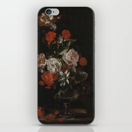 Jacob Campo Weyerman - Bouquet of flowers with roses, passion flower and bindweed - 1700-1720 iPhone Skin