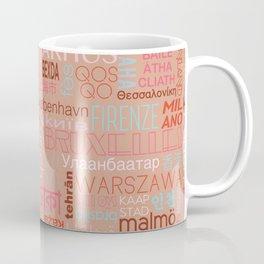 Text and the City Multi Retro + Buff Coffee Mug