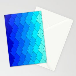 blue lozenges Stationery Cards