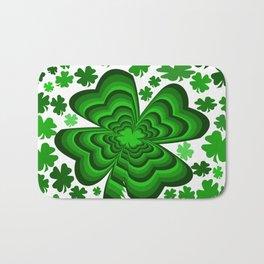 Lucky 4 Leaf Clover Bath Mat