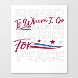 Massachusetts Patriotic Memorial Day Canvas Print