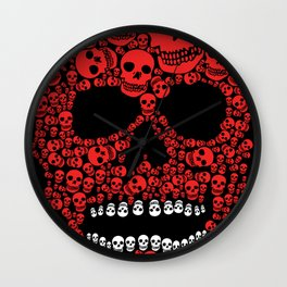Head Dead Scull Wall Clock