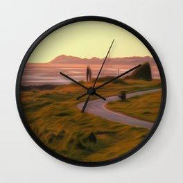 Walk along the coastal path Wall Clock