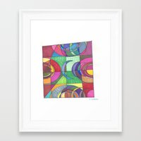 stained glass Framed Art Prints featuring Stained Glass by SaraLaMotheArt