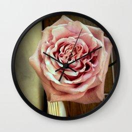 Vintage Tea Rose. Retro Style Wall Clock