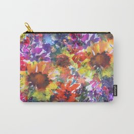 Rainy Day Sunflower Garden Carry-All Pouch