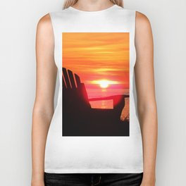 Sunset and the Chair Biker Tank