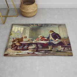 Jean-Leon Gerome Ferris's Writing the Declaration of Independence in 1776 Rug