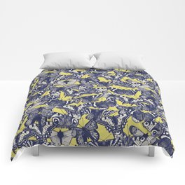 butterfly yellow Comforters