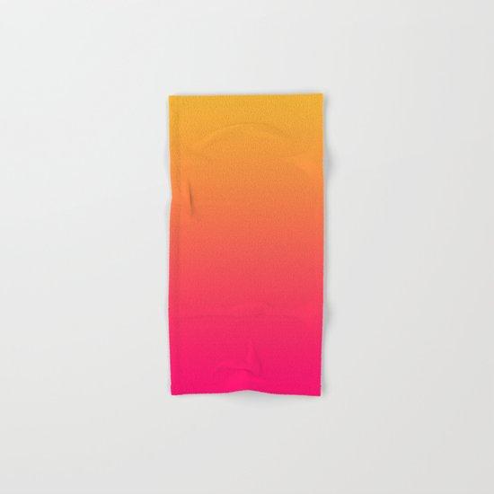 Hot Pink / Golden Heart Gradient Colors Hand & Bath Towel