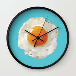 Fried Egg Polygon Art Wall Clock