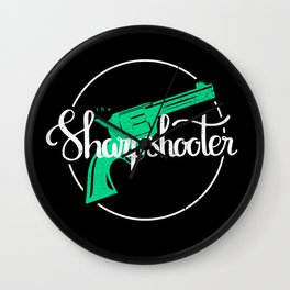 The Sharpshooter Wall Clock