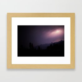 Baker Lightning Framed Art Print