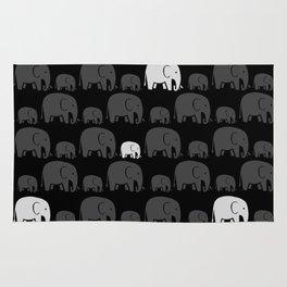 Elephant Black Rug