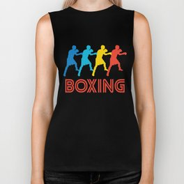Boxer Retro Pop Art Boxing Graphic Biker Tank