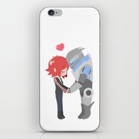 mass effect iPhone & iPod Skins featuring Mass Effect - Shakarian by Choco-Minto