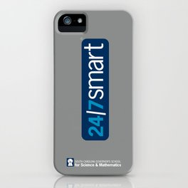 24/7SMART on grey iPhone Case