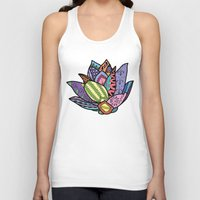 lotus flower Tank Tops featuring Lotus by Ilse S
