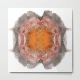 Fractal 20 - Orange Metal Print