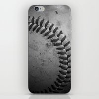 baseball iPhone & iPod Skins featuring Baseball by Christy Leigh