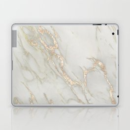 Marble Love Bronze Metallic Laptop & iPad Skin
