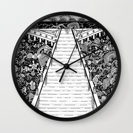 Under the stillness there is life Wall Clock