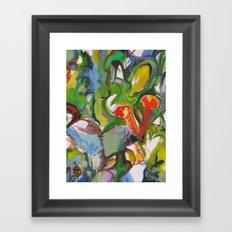 Rhapsody Trumpet Vines Framed Art Print
