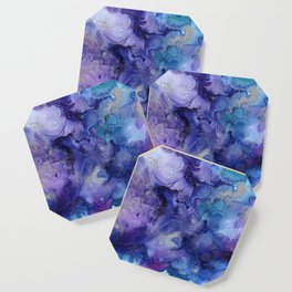 Abstract Watercolor and Ink Coaster