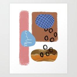 Beachy Modern Scandi Art Print