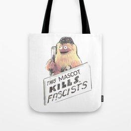 This Mascot Kills Fascists Tote Bag