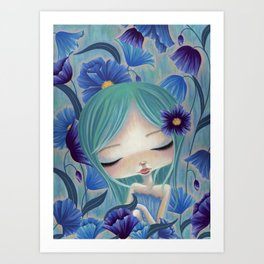 My Blue Heaven Art Print