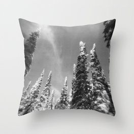 snow-capped . ii Throw Pillow