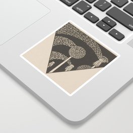 Art Nouveau Dandelion Seeds Sticker